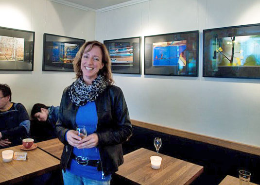 Kristin Bruun utstillingsåpning foto